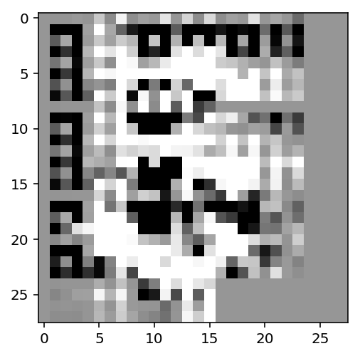 a picture of a gradient for another 3 in MNIST